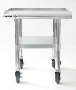 Naks 24 x27 16 Gauge Stainless Steel Equipment Stand W Undershelf And Casters