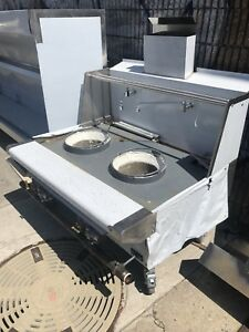 Two 18 Hole Chinese Wok Jet Or Duck Burner Lp Or Nat Gas W safety Valve Aga Nsf
