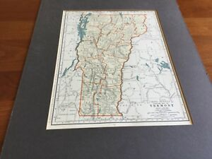 1935 Vermont East Texas 2 Side Map Rand Mcnally Premium Edition 11 X 14