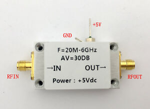 Lna 20mhz 6000mhz Low Noise Amplifier Rf Amplifier High Linearity Gain
