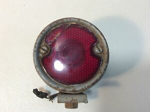 Vintage Tail Light Assembly With Bracket And Backup Lens Early Model a E2
