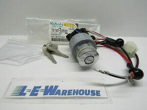 New Genuine Kubota Ignition Key Switch W Keys Part 15193 63590