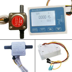 Lcd Liquid Digital Fuel Oil Flow Meter 13mm Diesel Gasoline Gear Flow Sensor