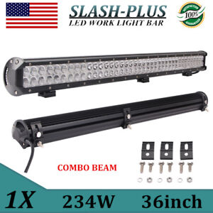 36inch 234w Cree Led Light Bar Work Flood Spot Truck Offroad 4wd Driving Fog Atv