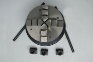 65 Mm 4 Jaws Self Centering Chuck With Back Plate T Nuts For Rotary Table