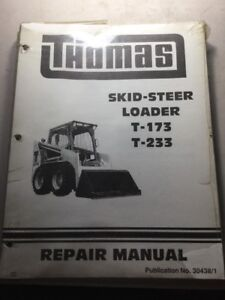 Thomas T 173 T 233 Skid Steer Loader Service Manual