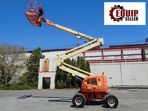 Jlg 450a Articulating Boom Man Aerial Scissor Lift 45ft Height Propane 4x4