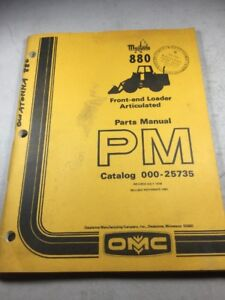 Mustang 880 Front end Articulated Loader Parts Manual