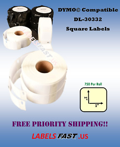 White 30332 Square Labels Dymo Labelwriter 4xl Rolls Twin Turbo 450 400 El40