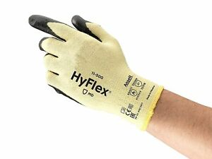 12 Pair Ansell 11 500 Hyflex Coated Cut Resistant Gloves Size 7