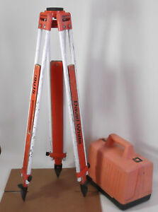David White 8114 Surveyors Transit Builders Level D w 9015 Tripod Plastic Case