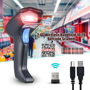 1d 2d Wireless Usb Connection Handheld Barcode Scanner Reader For Ios Android