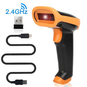 Portable 1d 2 4ghz Wireless Wired Laser Barcode Scanner Reader For Ios Android