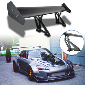 New Style Universal Aluminum Adjustable Gt Rear Trunk Wing Racing Spoiler Black