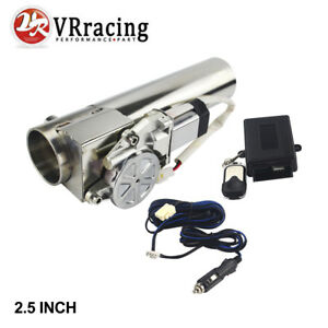 2 5 63mm Electric Exhaust Catback Downpipe Cutout Valve System Remote Control