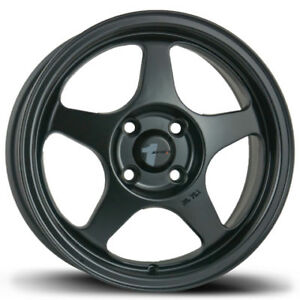 15x6 5 Avid 1 Av08 4x100 35 Matte Black Rims New Set