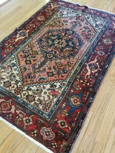4 2 X 6 4 Antique Vintage Persian Bijar Persian Heriz Rug Tribal