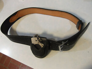 Dutyman 1071 Black Leather Duty Belt Size 38 2 1 4 Wide Free Shipping