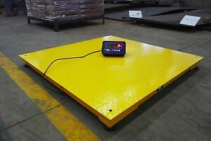 Heavy Duty 4 X 4 Industrial Floor Scale Pallet Size 10 000 X 1 Lb new