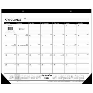 At a glance Academic Year Monthly Desk Pad Calendar September 2016 Dec 2017