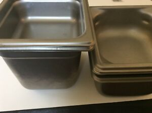 5 1 6 Stainless Steel Prep Table Food Pan 1 6 2 4 And 2 2 Deep