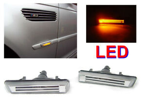 Depo Light Bar Amber Led Fender Clear Side Marker Light For 2001 2006 Bmw E46 M3