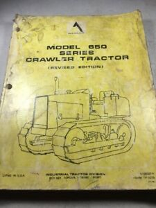 Allis Chalmers 650 Series Crawler Tractor Parts Catalog