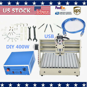 3axis Cnc Router 3040 Engraver Machine 3d Cuttrer Engraving Carving Pcb Us Stock