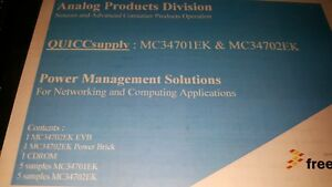 1x Freescale Mc34702ek evb Power Management Solutions Evb Kit see Picture