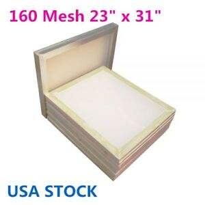 Usa 6pcs Aluminum Silk Screen Frame 160 Mesh 23 X 31 White Color Mesh