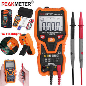 Peakmeter Pm8247s Auto Range Smart Digital Multimeter Volt Ac Dc W flashlight Us