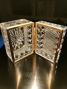 Antique French Cut Crystal Jewelry Box With Gilt Bronze Mounts