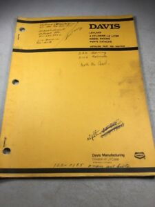 Davis Leyland 4 Cylinder 1 8 Liter Diesel Engine Parts Catalog