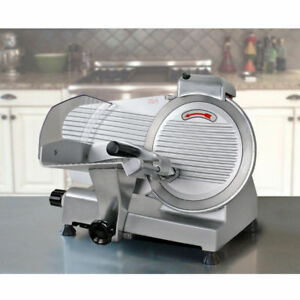 New Commercial Electric Meat Slicer 10 Blade 240w 530 Rpm Deli Food Cutter