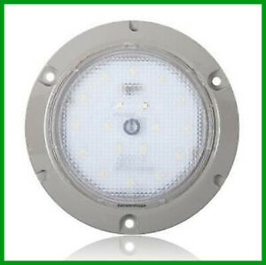 Interior Dome Light 24 Led White Surface Mount 5 5 Round Touch Switch
