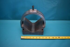 Used V Block And Clamp Set 6 3 4 Wide 3 1 2 Tall