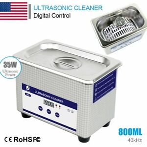 Digital Dental Stainless Steel Ultrasonic Cleaner Sonic Jewellery Watch Cleaning