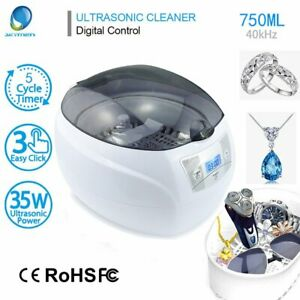 Digital Ultrasonic Cleaner Bath For Cleaning Jewelry Glasses Circuit