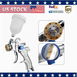 Air Spray Gun Hvlp Kit 600cc Nozzle Paint Touch Up Gravity Feed Atomization1 4in