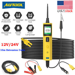 Autool Bt260 Car Circuit Tester Electrical Battery Power Probe Diagnostic Tool