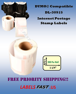 Stamp Labels White 30915 Dymo Compatible Labelwriter 450 Twin Turbo Bc El60