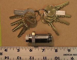 Medeco Switch Electrical Cam Lock With 8 Keys New