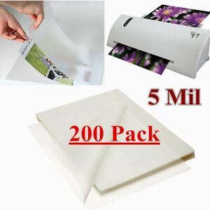 200 Qty Letter Size Thermal Laminating Pouches 9 X 11 5 Inch 5 Mil Universal Usa