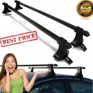 48 Universal Top Roof Rack Cross Bars Carrier Car Kayak Canoe Luggage Suv Mount