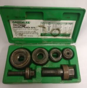 Greenlee Ball Bearing Knockout Metal Punch Set 735bb