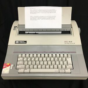 Smith Corona Electric Typewriter 350 dle Spell Right Tested Cover Manual Ribbons