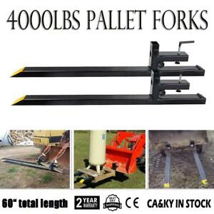 Hd 43 Lw Clamp On Pallet Forks 4000 Lbs Capacity Loader Bucket Tractor Chain