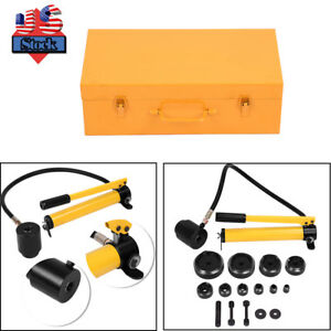 15ton Syk 15 Hydraulic Metal Steel Hand Knockout Punch Die Hole Puncher Case Kit