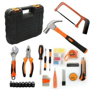 35pc Household Tools Set Home Commercial Electric Screwdriver Wrench Toolbox