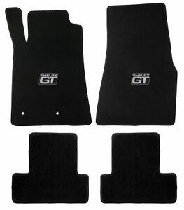 Mustang Carpet Floor Mats W Shelby Gt Logo 2005 2010 Coupe Convertible